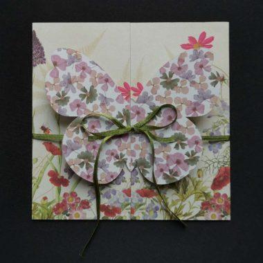 Schmetterlings-Faltkarte Bastelvorlage & Plotterfreebie